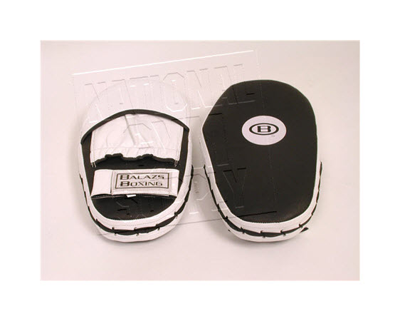 Target Mitts,White/Black (Pair) - Click for larger picture