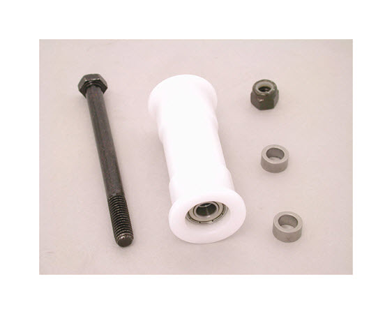 Seat Roller, Top W/ Hardware (White) - Click for larger picture