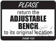 "Adjustable Bench Sign, 9""X12"" - Click for larger picture"