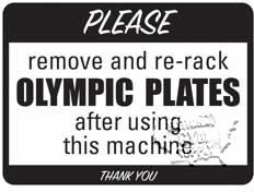 "Olympic Plates Sign, 9""X12"" - Click for larger picture"