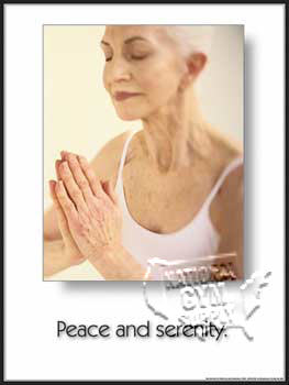Yoga Peace/Serenity (Lamin) - Click for larger picture