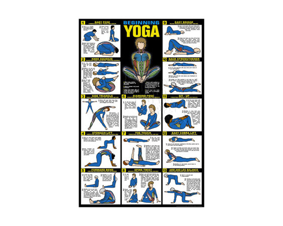 Discontinued; Yoga Poster (Laminated) - Click for larger picture