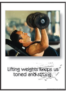 "Poster ""Toned And Strong"" - Click for larger picture"