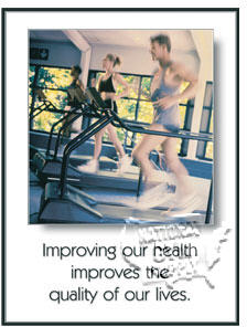 "Poster ""Improving  Health"" - Click for larger picture"