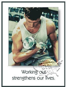 "Poster ""Working Out"" - Click for larger picture"