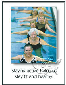 "Poster ""Staying Active""L - Click for larger picture"