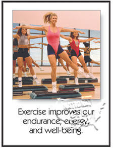 "Poster ""Exercise Improves""L - Click for larger picture"
