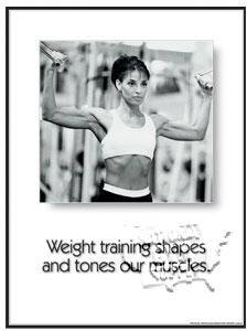 "Poster ""Weight Training""L - Click for larger picture"