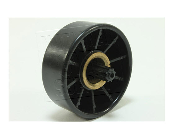 Transport Wheel W/ Bushing (Black) - Click for larger picture