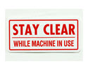"LFS206-Discontinued, Decal, ""Stay Clear"""