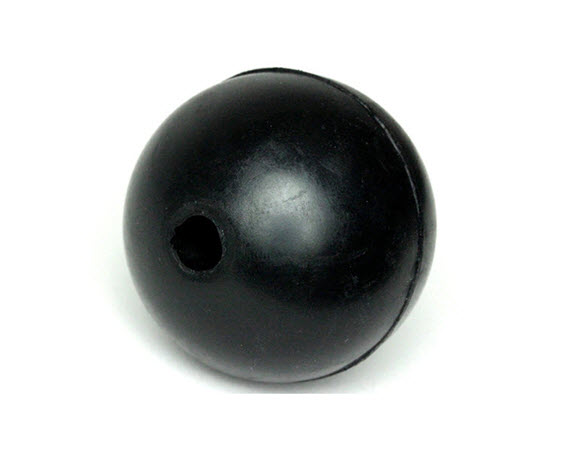 "Stopper Ball,1-3/4"" Od Black , 5/16""Id - Click for larger picture"
