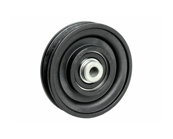 "Pulley, 3-1/2"" Dia. (3/8"" Bore) 1"" Thick - Click for larger picture"