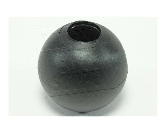 "Stopper Ball, 1"" Od, Black - Click for larger picture"
