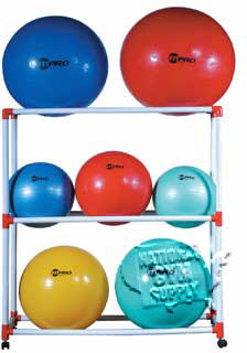 Storage Rack For Stability Ball - Click for larger picture
