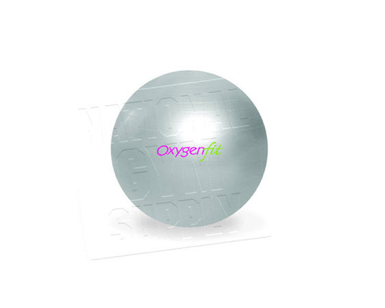 Oxygenfit Body Ball, 65cm, Silver - Click for larger picture