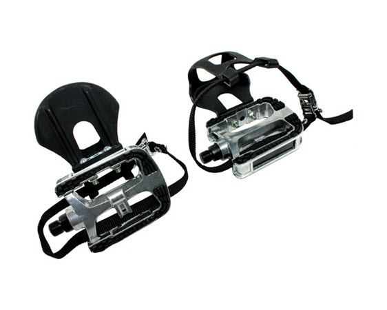 Pedals W/Toe Cage/Strap,Non-Spd (Pair) - Click for larger picture