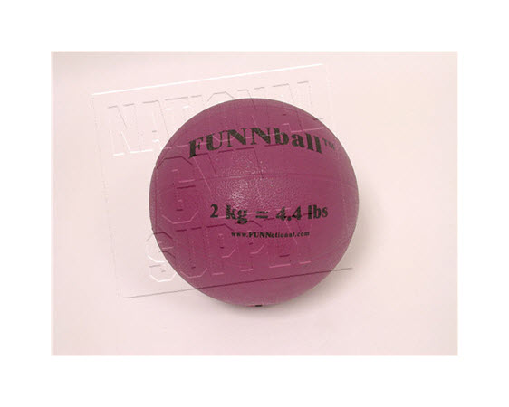 Medicine Ball, Rubber, 2 Kg/4.4 Lbs - Click for larger picture
