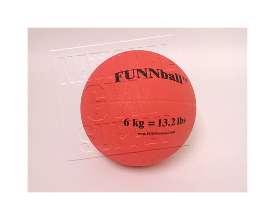 Medicine Ball, Rubber, 6 Kg/13.2 Lbs. - Click for larger picture
