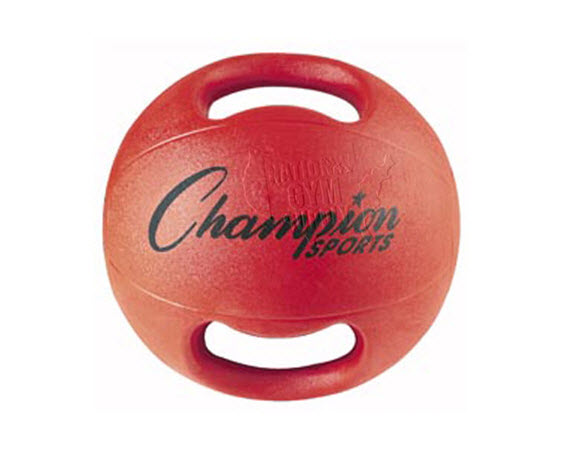 Heavy Ball With Double Grip,3.5 Kg (Red) - Click for larger picture