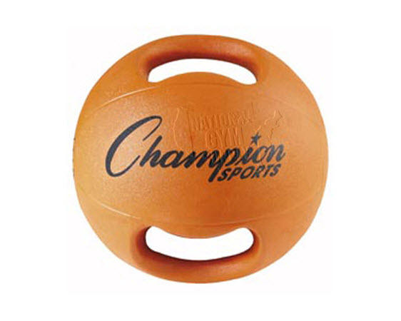 Heavy Ball With Double Grip,6.5kg(Orang) - Click for larger picture