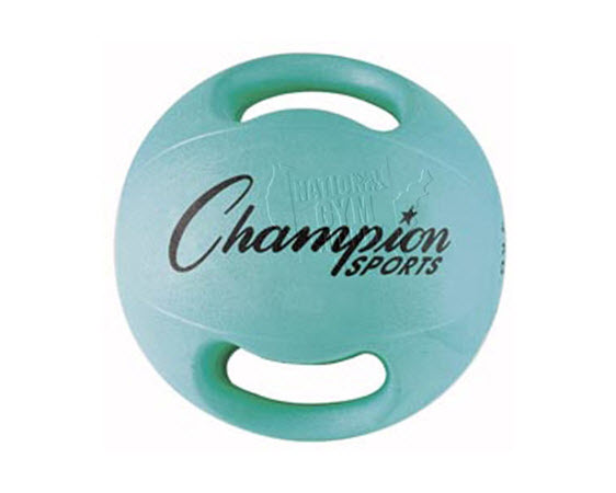 Heavy Ball With Double Grip,8 Kg(Aqua) - Click for larger picture