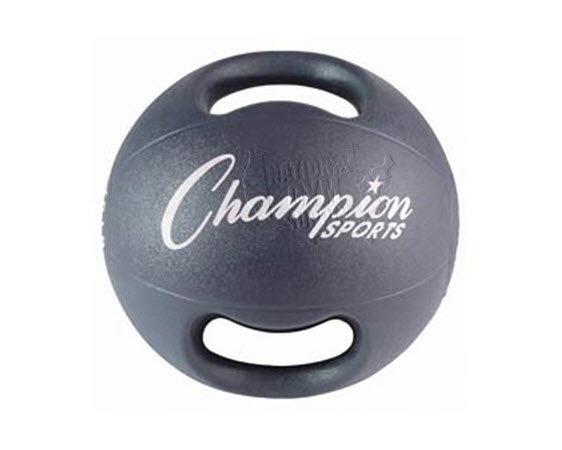 Heavy Ball With Double Grip,9 Kg(Black) - Click for larger picture