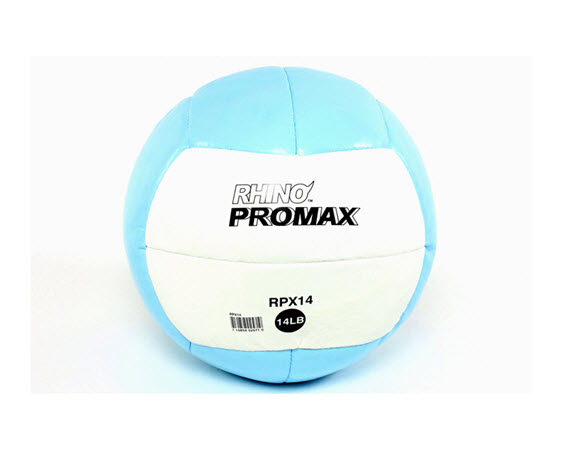 Soft Medicine Ball, 14 Lbs (Light Blue) - Click for larger picture
