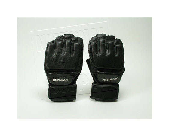 Leather Grappling Gloves (Large) Pair - Click for larger picture