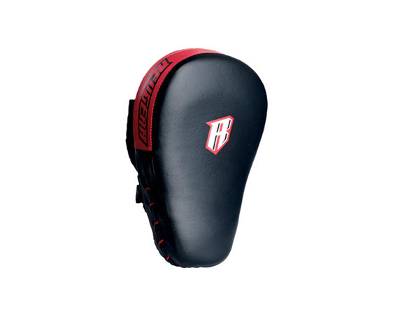 Leather Curved Focus Mitts - Click for larger picture