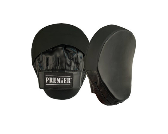 Curved Focus Mitts, Synthetic Leather - Click for larger picture