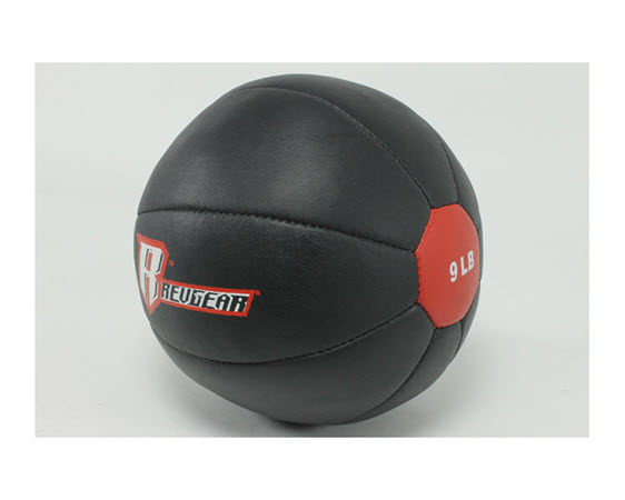 Genuine Leather Medicine Ball 9 Lbs - Click for larger picture
