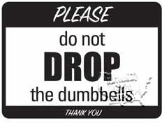 "Discontinued; Dumbbells Sign, 9""X12"" - Click for larger picture"