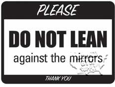 """Mirrors Sign, 9""""X12"""" - Click for larger picture"""