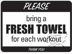 """Fresh Towel Sign, 9""""X12"""" - Click for larger picture"""