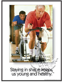 "GP320L-Poster ""staying in shape""L"
