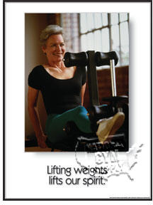 "GP325L-Poster ""lifting weights"" L"
