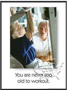 "GP340-Poster ""never too old"""