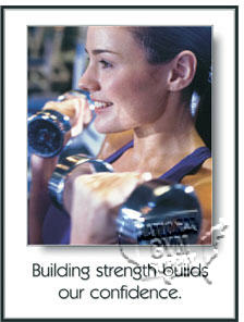 "GP345-Poster ""building strength"" 24"" x 18"""