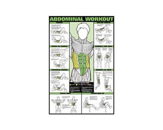 GP510L-Poster, Ab Workout, Laminated