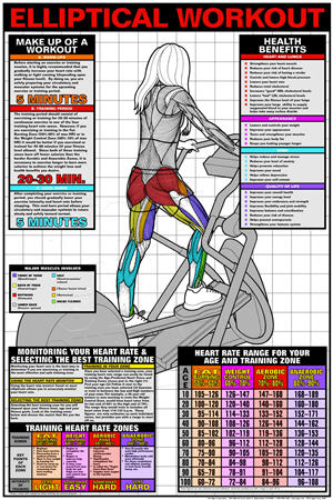 GP600-Poster, Elliptical Workout