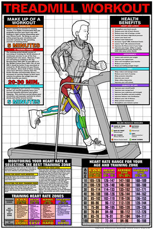 Poster, Treadmill Workout (Laminated) - Click for larger picture