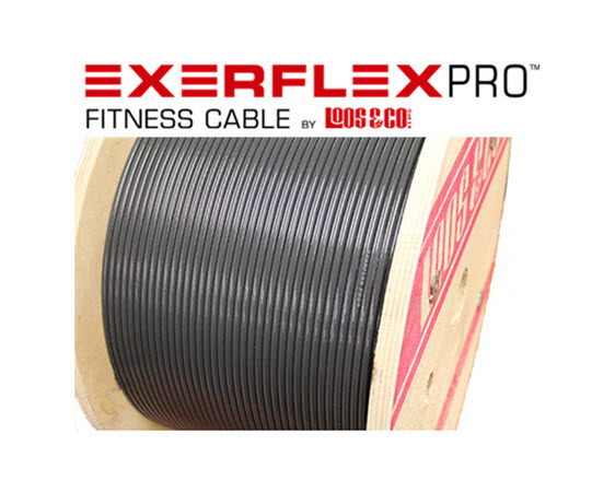 Exerflex Pro Cable 3/16-1/4 (Gray)/Ft - Click for larger picture