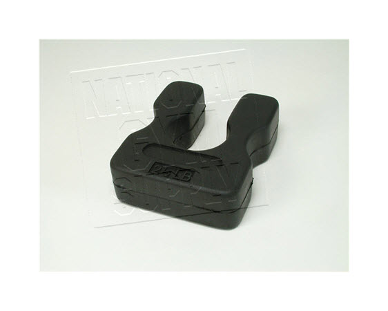 Add-On Plate, 2-1/2lb Rubber, U-Shape - Click for larger picture