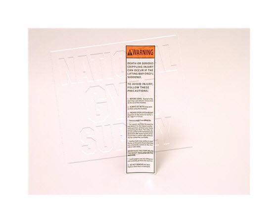 Discontinued,Warning Decal,Smith Machine - Click for larger picture