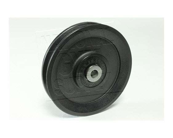 """Pulley, 6"""" Dia. (3/8"""" Bore) 1"""" Thick - Click for larger picture"""