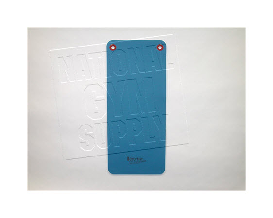 """Fitness Mat W/ Eyelets, 48"""", Blue - Click for larger picture"""
