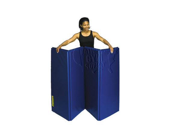 """Folding Mat, 4' X 8' X 1-3/8"""" (Blue) - Click for larger picture"""