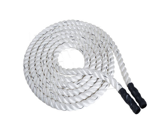 """Battling Rope,White Polypro 100'x1.5""""D - Click for larger picture"""