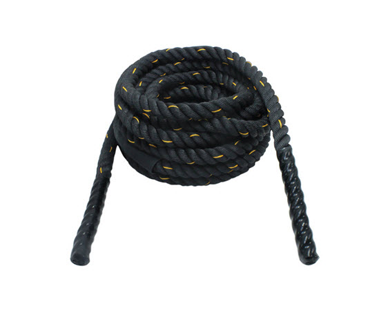 "Battling Rope, Blk Polydacron 30'-1.5"" - Click for larger picture"