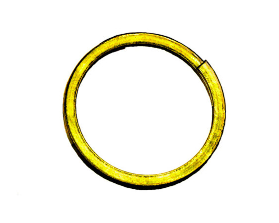 Retaining Ring, 2-Turn, Spiral,Ss - Click for larger picture